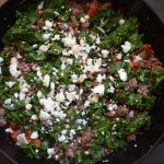 An example of the lamb and feta dish described in this post and recipe.